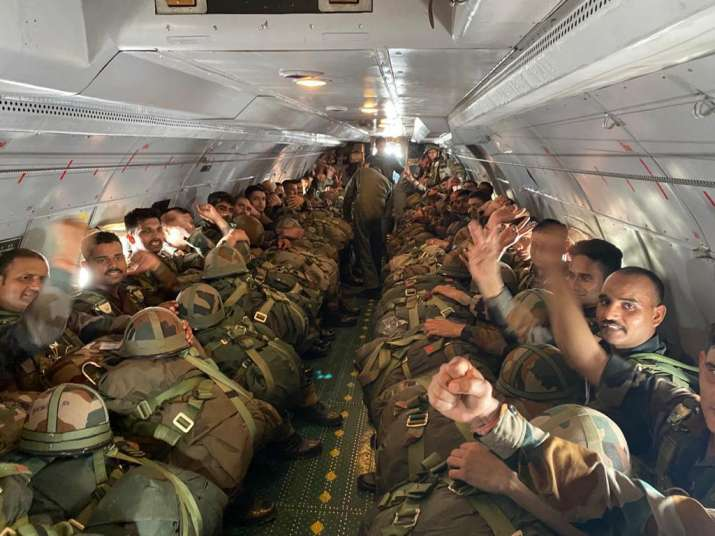 Shatrujeet Brigade of Indian Army conduct Airborne Exercise