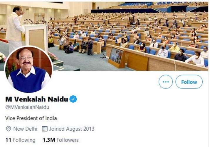 India Tv - vp venkaiah naidu twitter handle