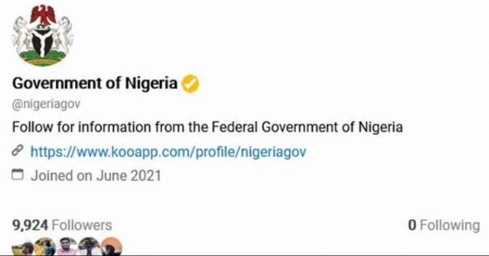 nigeria govt koo account, koo nigeria govt, nigeria koo account, twitter ban nigeria,