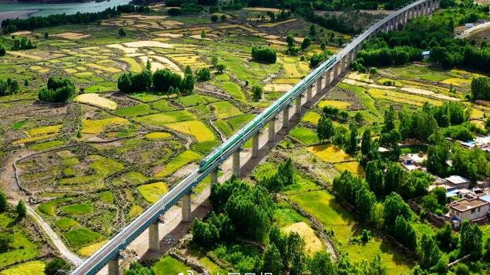 China Bullet Train In Tibet