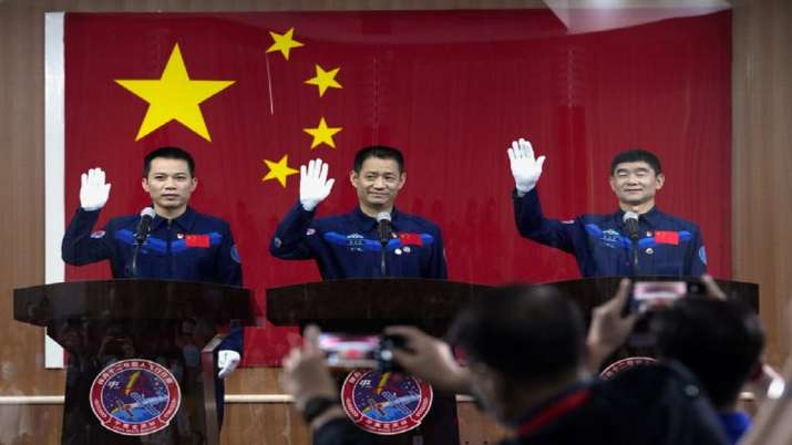 India Tv - China, launch of first crewed mission, space station construction, China latest news, china news upd