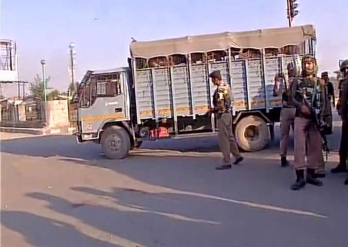 The CRPF convoy was on its way to Srinagar from Chadoora
