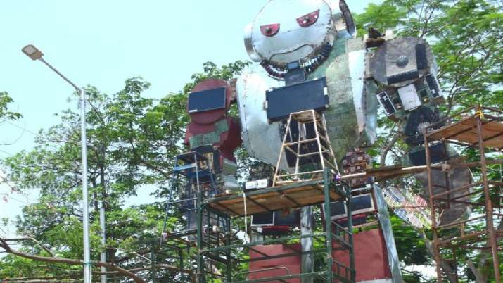 On World Environment Day 29-feet tall sculpture installed at ITI Berhampur