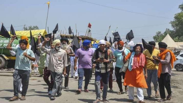 The farmers were protesting in the bordering areas of Delhi