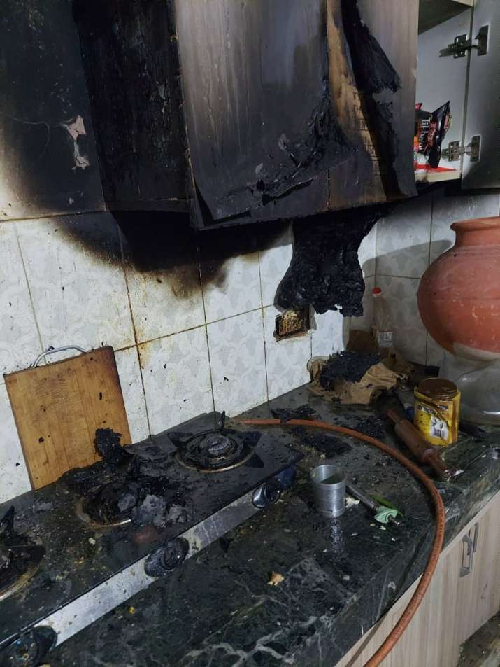 India Tv - Pet dog saves family from fire in Greater Noida, raises alarm in nick of time