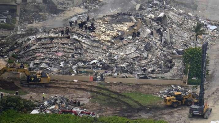 Florida building collapse, body, death toll, five dead, rescue operation, rescue team, jow biden, tr