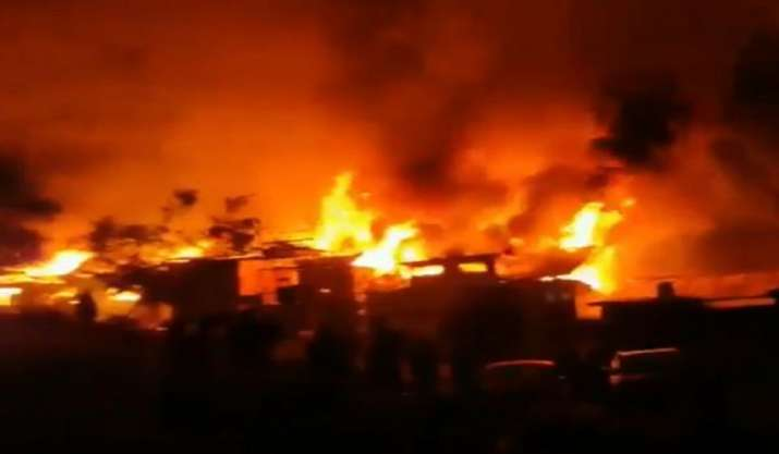 Jammu and Kashmir: Massive fire breaks out in Baramulla,