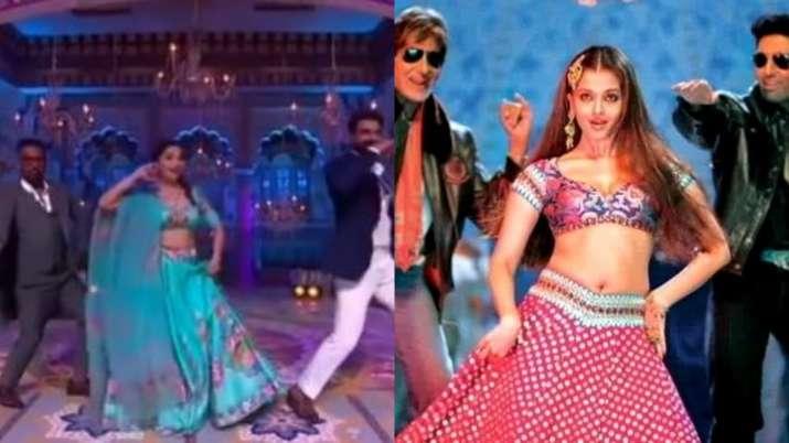 Madhuri Dixit recreates Aishwarya Rai's Kajra Re