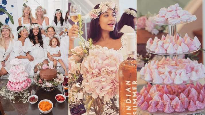 Lisa Haydon's baby shower was all about friends, beautiful decor & no wine consumption. See pics