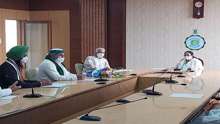Rakesh Tikait meets Mamata Banerjee and Yashwant Sinha in