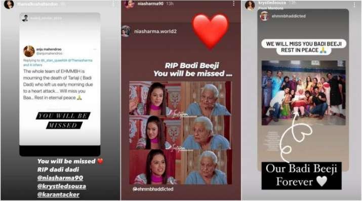 India Tv - Celebs mourn Tarla Joshi's death
