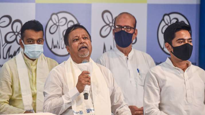 BJP leader Mukul Roy with TMC National General Secretary