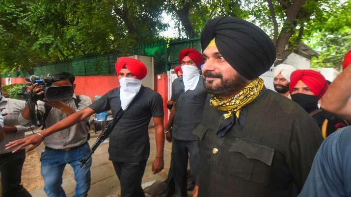 FILE PIC: Punjab Congress MLA Navjot Singh Sidhu comes out