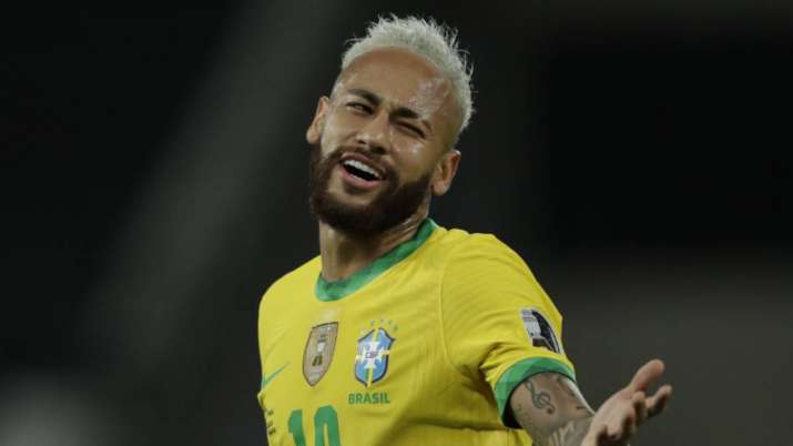 Brazil's Neymar reacts during a Copa America soccer match