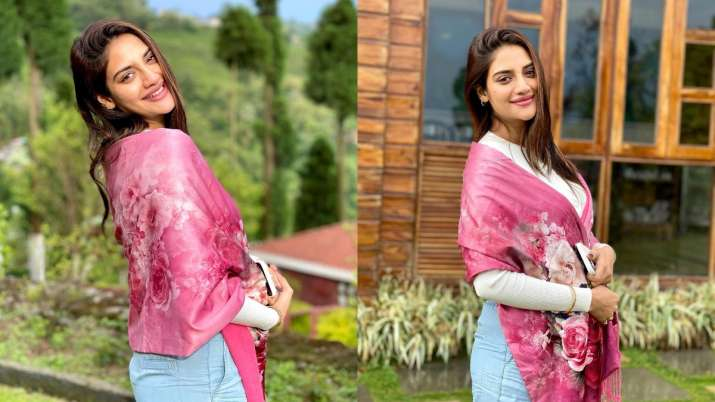 Nusrat Jahan shares pictures with her baby bump on Instagram. Look at that glow!