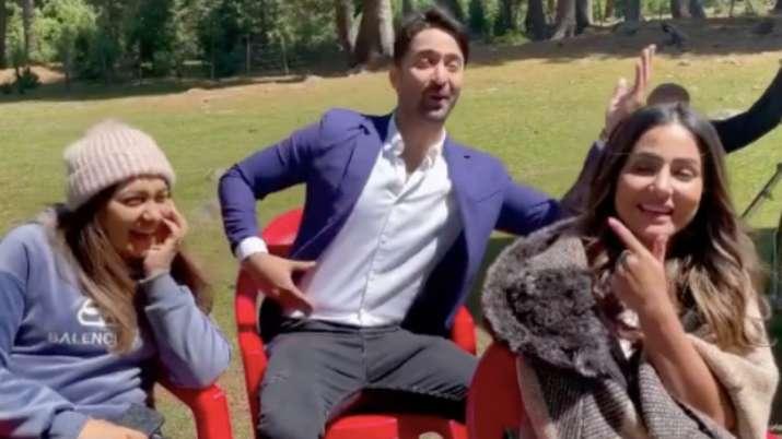 Hina Khan calls Shaheer Sheikh 'Farzi Kashmiri' in this funny video   WATCH