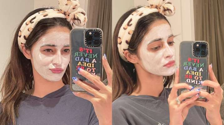 """Ananya Panday has been working on her skin care habit, saying """"it's never a bad idea to be comfortable with yourself."""""""