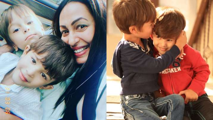 Kashmera Shah shares adorable birthday wish for her twin boys