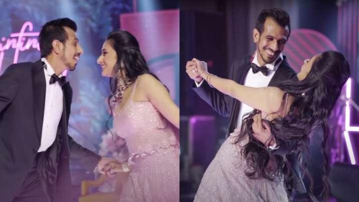 Video: Dhanashree Verma-Yuzvendra Chahal's romantic dance during their sangeet ceremony