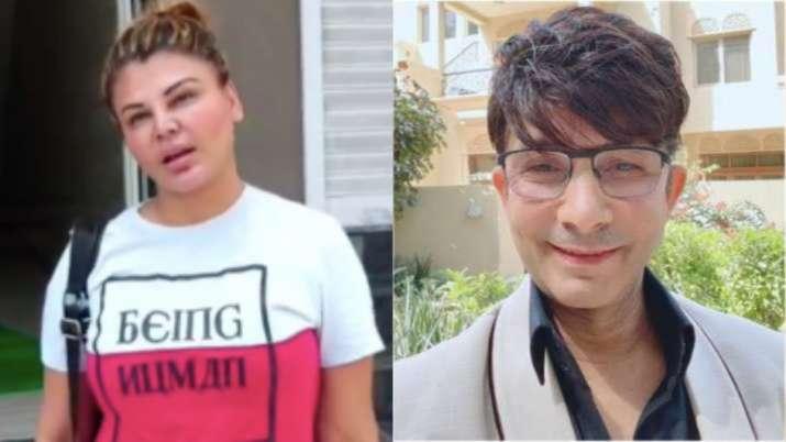 Rakhi Sawant supports Salman Khan, KRK calls 'number ka jhoota'