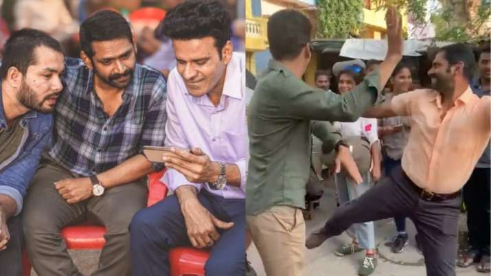 The Family Man 2: Manoj Bajpayee, Sharib Hashmi and the group dance to dhol rhythms as they celebrate the success of the show