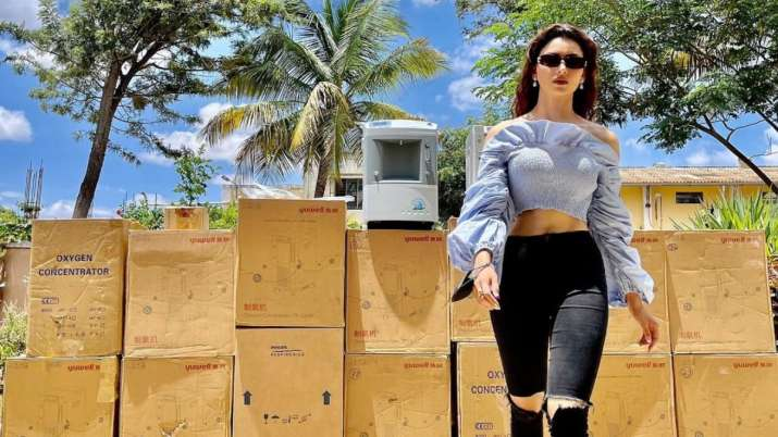 COVID-19: The Urvashi Rautela Foundation has donated a total of 47 oxygen concentrators