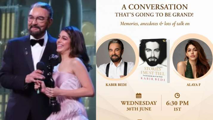 """Alaya F to celebrate the success of Grandfather Kabir Bedi's Book, """"Stories I Need to Tell"""""""