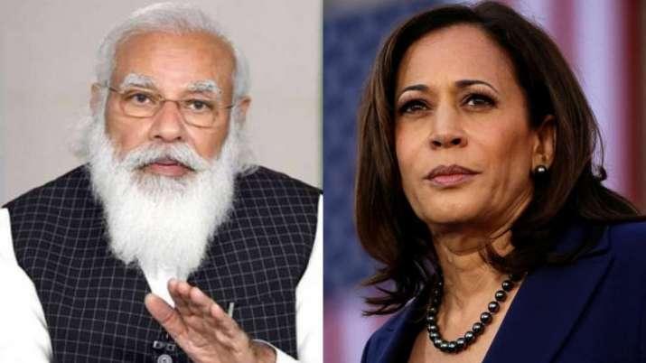 PM Modi and US Vice President Kamala Harris discuss