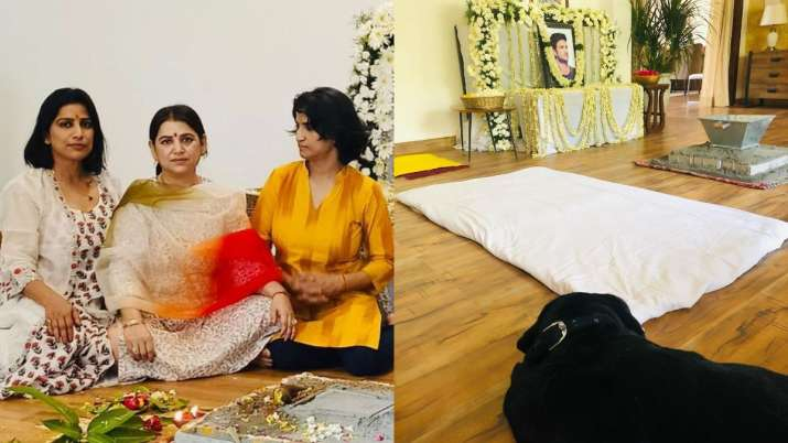 Sisters Sushant Singh Rajput Meetu Priyanka remembers sharing photos of her brother's prayer