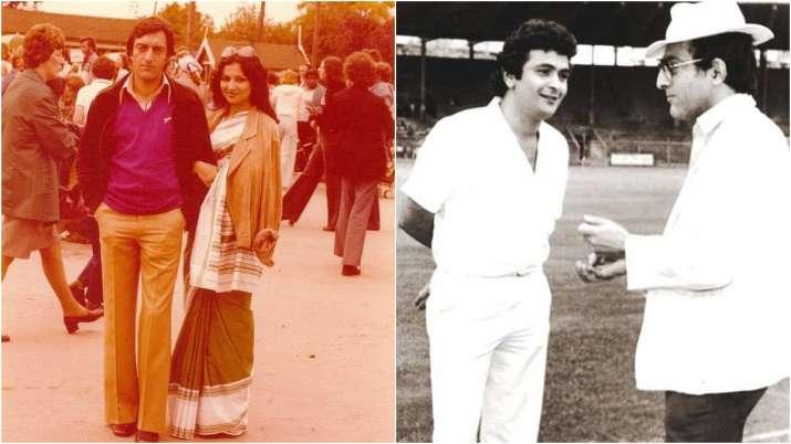 Mansoor Ali Khan with Sharmila Tagore and Rishi Kapoor