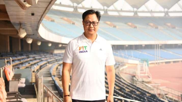 Sports minister Kiren Rijiju unveils India's uniform for Tokyo Olympics