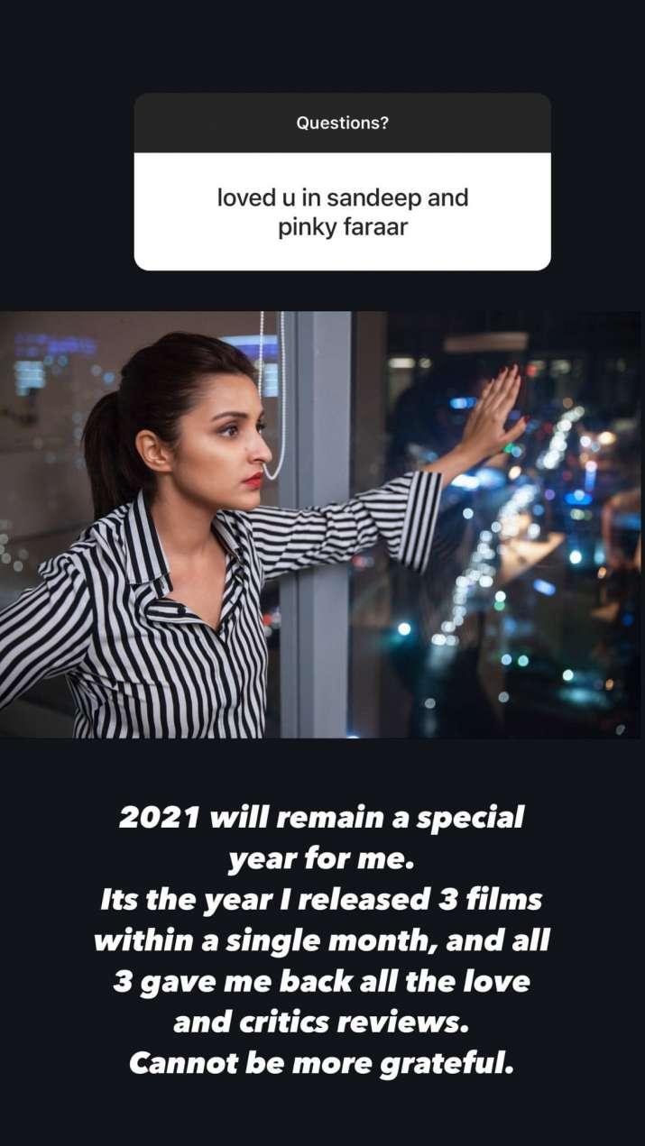India Tv - Parineeti Chopra AMA on Instagram