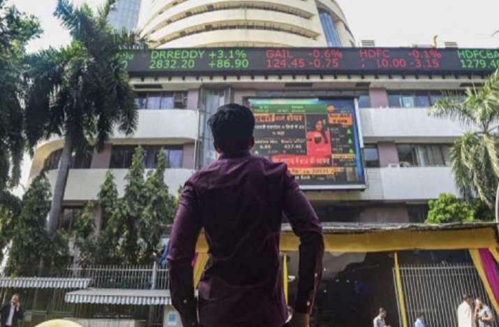 Sensex jumps, Nifty tops