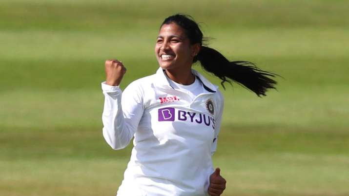 ENG W vs IND W: Sneh Rana becomes first Indian women's player with 4-fer and 50+ score on Test debut