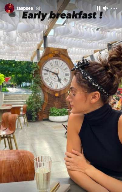 India Tv - Taapsee Pannu flies off to Moscow with sister Shagun