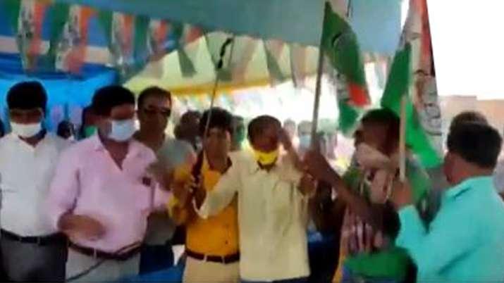 Today, in the Birhum district, 150 BJP workers were