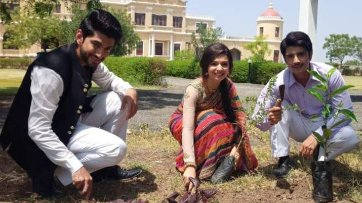 TV actors planting trees on World Environment Day