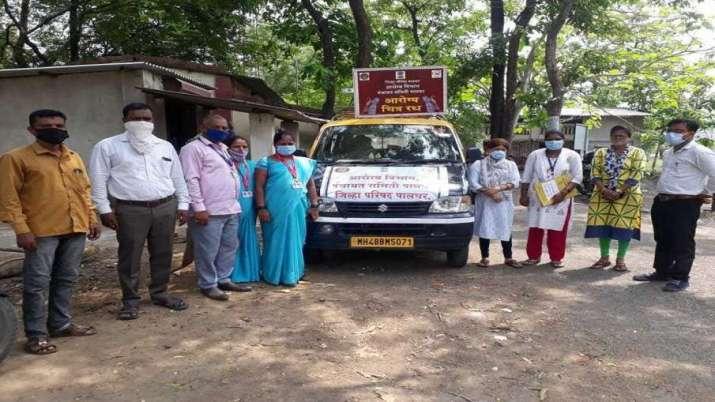 The Covid vaccination team went toGanje-Jayshet village