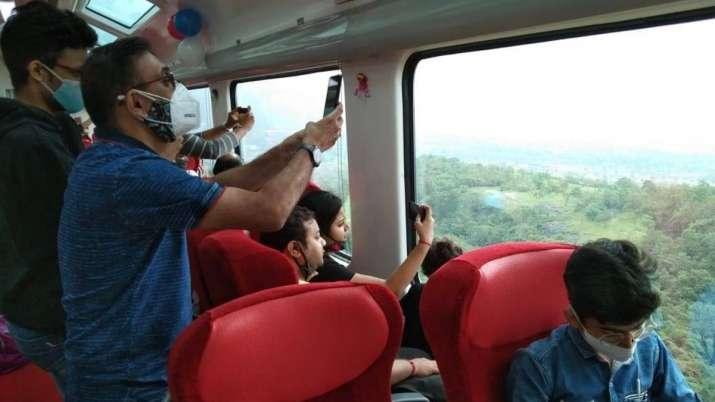 The Vistadome coach service on the Mumbai-Pune Deccan