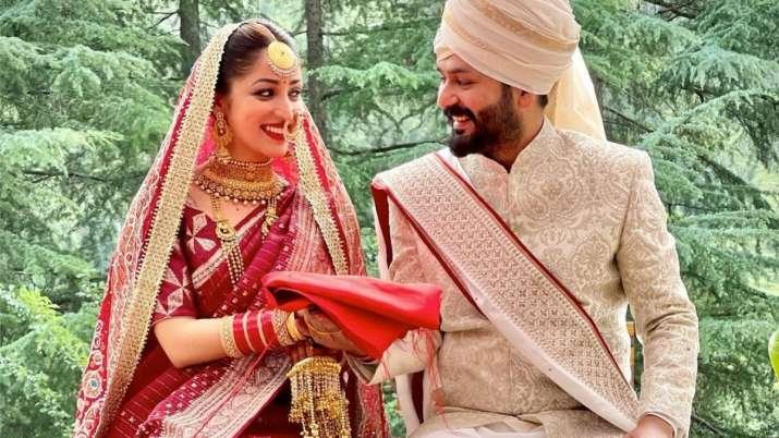 Yami Gautam is linked to director Aditya Dhar 'Uri'.  See the first photo of the wedding here