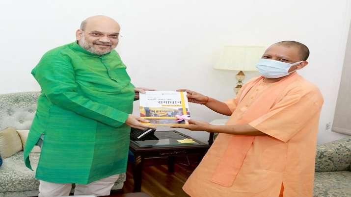 UP CM Yogi Adityanath met Union Home Minister Amit Shah in