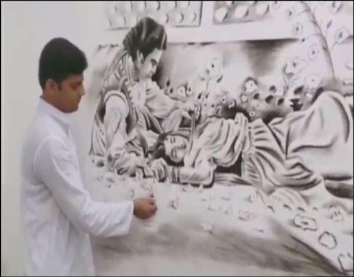 India Tv - Dilip Kumar's sketch