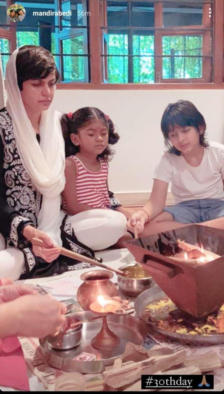 India Tv - Mandira and her kids