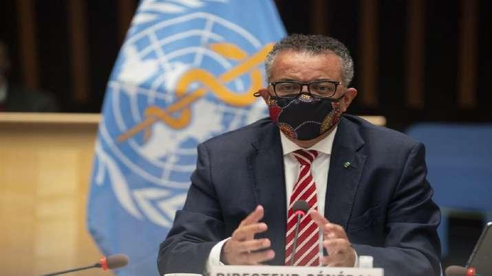 WHO chief Tedros Adhanom Ghebreyesus in his keynote speech
