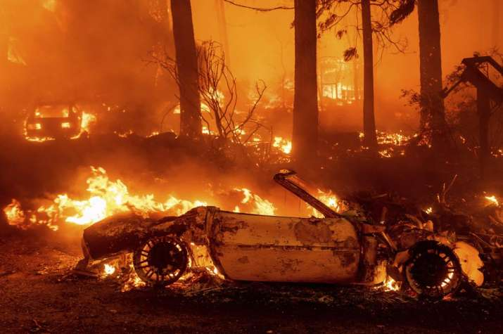India Tv - California largest wildfire, California largest wildfire photos videos, houses destroyed California