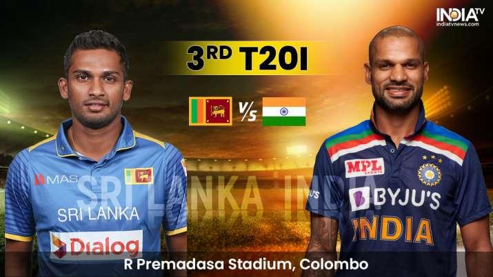 LIVE Cricket Score Sri Lanka vs India 3rd T20I: Live Updates from Colombo
