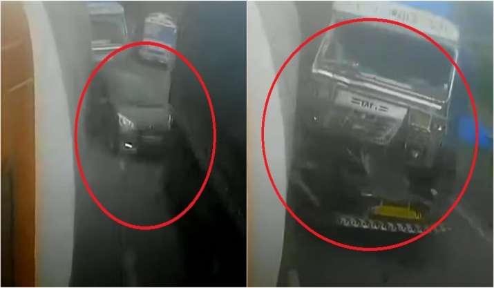 Mumbai-Pune Expressway accident caught on cam: 3-yr-old,