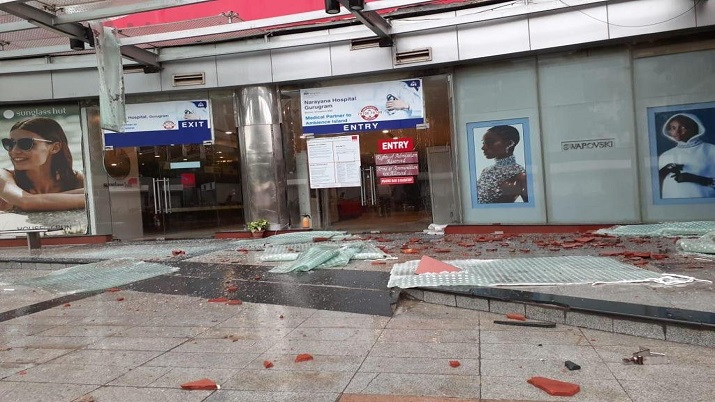 Gurugram: Portion of roof of Ambience Mall collapses