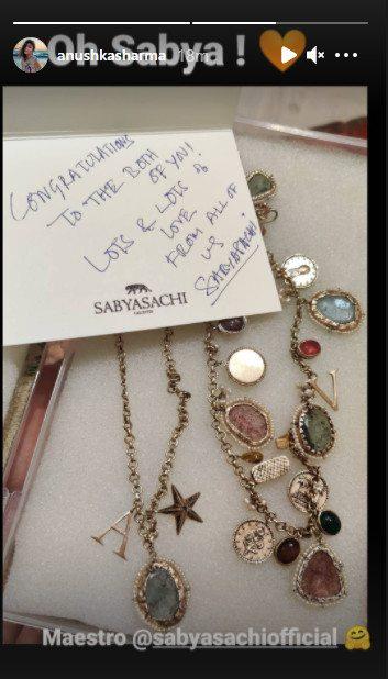 India Tv - Anushka Sharma thanks Sabyasachi for the necklace