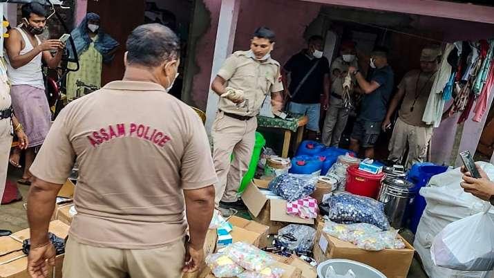 Assam police seize illegal durgs during a raid in Goalpara
